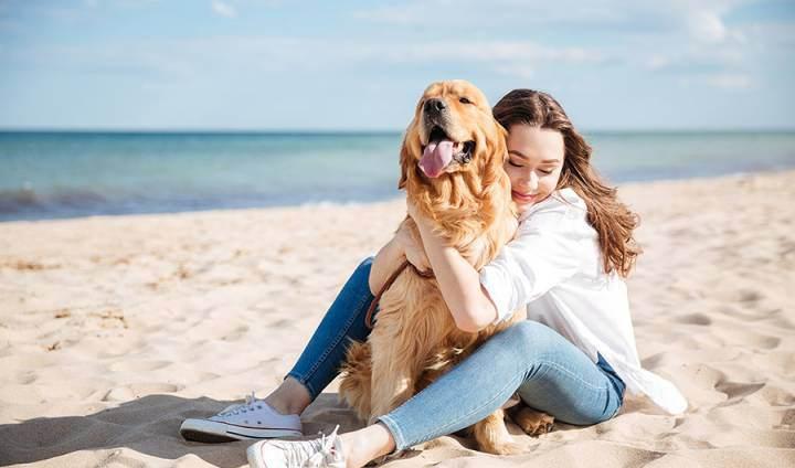 Al mare con il mio cane